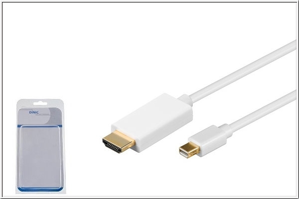 Mini DisplayPort auf HDMI Kabel 2 m, weiß