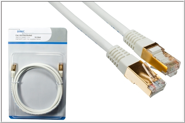 DINIC HQ Patchkabel Cat.6A, 1m, 10 Gbit