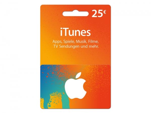 iTunes Karte 25 €