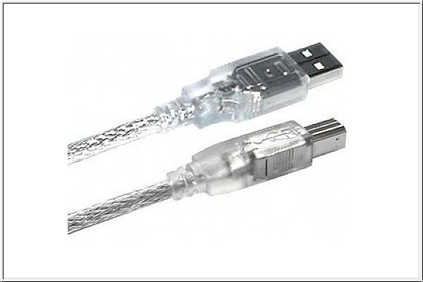 USB 2.0 Kabel, 2 m, A Stecker auf B Stecker