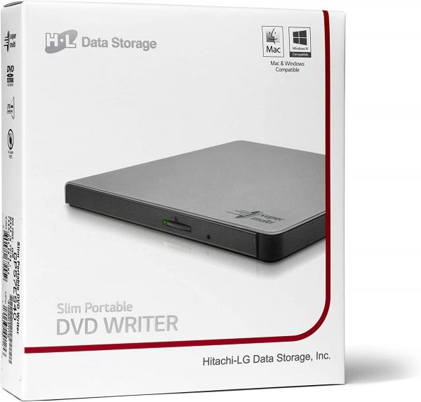 Hitachi-LG Ultra Slim-Line 8x DVD Brenner, silber