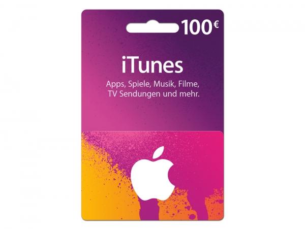 iTunes Karte 100 €
