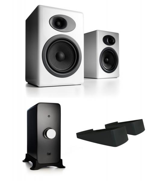 Audioengine A5 Passiv-Lautsprecher - N22 Verstärker - DS2 Stands - Ausstellungsstücke