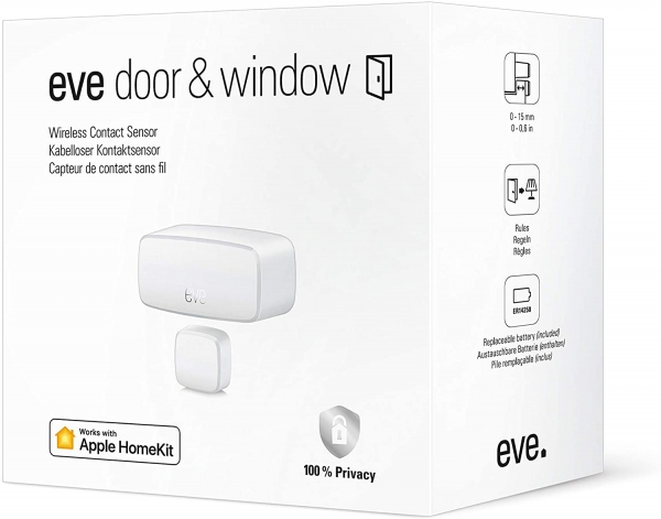 Eve Door & Window - Smarter Kontaktsensor für Türen & Fenster (Apple HomeKit)