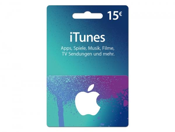 iTunes Karte 15 €