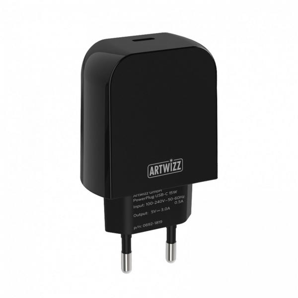 Artwizz PowerPlug USB-C 15W, schwarz