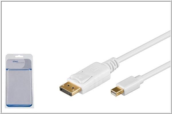 Mini DisplayPort auf DisplayPort, 2 m, weiß